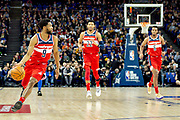 Washington Wizards Chasson Randle (9) during the NBA London Game match between Washington Wizards and New York Knicks at the O2 Arena, London, United Kingdom on 17 January 2019.