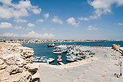 Cyprus, Paphos, The bay and harbour as seen from the castle of Paphos