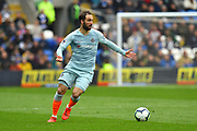 Gonzalo Higuain (9) of Chelsea on the attack during the Premier League match between Cardiff City and Chelsea at the Cardiff City Stadium, Cardiff, Wales on 31 March 2019.