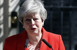 GB, London - May 24,  2019.Theresa May announces her resignation as prime minister and Conservative leader.Video frame. (Credit Image: © Cn/Ropi via ZUMA Press)
