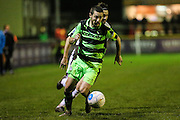 Forest Green Rovers Liam Noble(15) runs forward during the FA Trophy match between Truro City and Forest Green Rovers at Treyew Road, Truro, United Kingdom on 13 December 2016. Photo by Shane Healey.