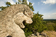 Yapahuwa An ancient fortress and capital built in the early 13th century. Rock carvings flank the long steep staircase to the top of the rock. Yapahuwa is a rock rising to a height of 90m.