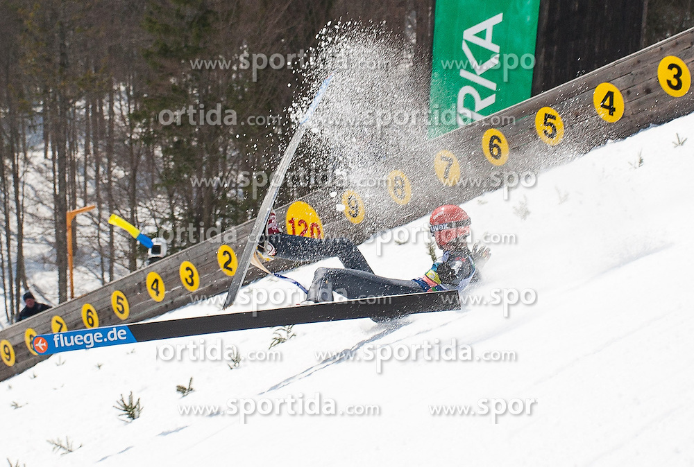 23.03.2013, Planica, Kranjska Gora, SLO, FIS Ski Sprung Weltcup, Skifliegen, Team, Probedurchgang, im Bild Sturz von Andreas Wellinger (GER) // Crash from Andreas Wellinger of Germany during his trial jump of the FIS Skijumping Worldcup Team Flying Hill, Planica, Kranjska Gora, Slovenia on 2013/03/23. EXPA Pictures © 2012, PhotoCredit: EXPA/ Juergen Feichter