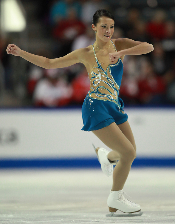 20101030 -- Kingston, Ontario -- Myriane Samson of Canada skates her free skate at Skate Canada International in Kingston, Ontario, Canada, October 30, 2010. <br /> AFP PHOTO/Geoff Robins