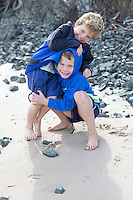 peat coromandel family photos at kuaotunu beach