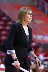 01 January 2017: Andrea Gorski during an NCAA Missouri Valley Conference Women's Basketball game between Illinois State University Redbirds the Braves of Bradley at Redbird Arena in Normal Illinois.