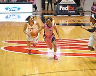 "Ole Miss' Valencia McFarland (3) vs. Georgia in women's basketball at the C.M. ""Tad"" Smith Coliseum in Oxford, Miss. on Sunday, February 24, 2013. Georgia won 73-54."