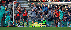 BOURNEMOUTH, ENGLAND - Sunday, November 25, 2018: AFC Bournemouth's Jefferson Lerma (on the floor left) looks dejected after scoring an own-goal during the FA Premier League match between AFC Bournemouth and Arsenal FC at the Vitality Stadium. (Pic by David Rawcliffe/Propaganda)