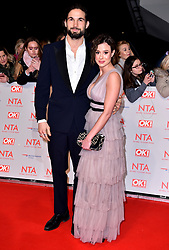 Camilla Thurlow and Jamie Jewitt attending the National Television Awards 2018 held at the O2 Arena, London. PRESS ASSOCIATION Photo. Picture date: Tuesday January 23, 2018. See PA story SHOWBIZ NTAs. Photo credit should read: Matt Crossick/PA Wire