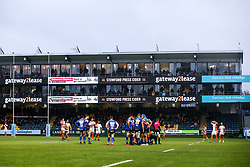 South Stand sponsor boards - Mandatory by-line: Robbie Stephenson/JMP - 15/02/2020 - RUGBY - Sixways Stadium - Worcester, England - Worcester Warriors v Bath Rugby - Gallagher Premiership Rugby