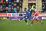 Jacques Maghoma of Birmingham city kicks forward  during the Sky Bet Championship match between Rotherham United and Birmingham City at the New York Stadium, Rotherham, England on 13 February 2016. Photo by Ian Lyall.