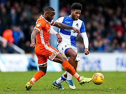 Abu Ogogo of Shrewsbury Town is challenged by Ellis Harrison of Bristol Rovers - Rogan/JMP - 03/02/2018 - FOOTBALL - Memorial Stadium - Bristol, England - Bristol Rovers v Shrewsbury Town - EFL Sky Bet League One.