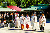 Procession of Shinto Wedding Ceremony, Meiji-Jingu Shrine, Tokyo, Japan