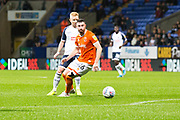 Blackpool defender James Husband in action during the EFL Sky Bet League 1 match between Bolton Wanderers and Blackpool at the University of  Bolton Stadium, Bolton, England on 7 October 2019.
