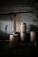 1-7-13---- Balcones special barrels waiting to be filled with  whisky in Balcones Distillery warehouse in Waco, Texas.