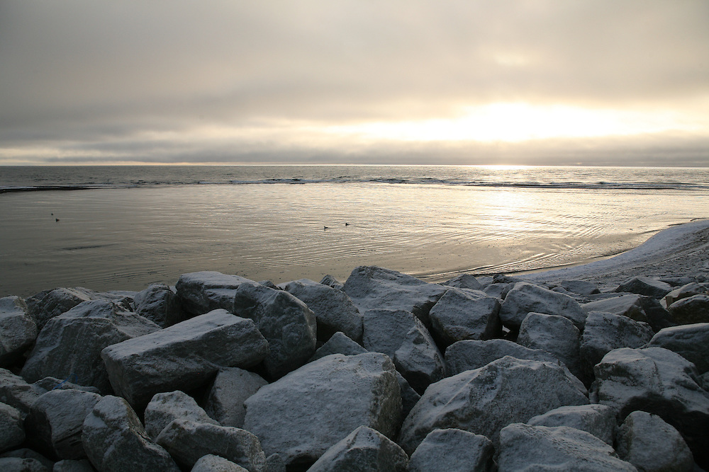 Kivalina sea wall. 2009