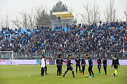 "Foto Filippo Rubin<br /> 06/01/2018 Ferrara (Italia)<br /> Sport Calcio<br /> Spal - Lazio - Campionato di calcio Serie A 2017/2018 - Stadio ""Paolo Mazza""<br /> Nella foto: I TIFOSI DELLA LAZIO<br /> <br /> Photo by Filippo Rubin<br /> January 06, 2018 Ferrara (Italy)<br /> Sport Soccer<br /> Spal vs Lazio - Italian Football Championship League A 2017/2018 - ""Paolo Mazza"" Stadium <br /> In the pic: LAZIO SUPPORTERS"