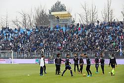 """Foto Filippo Rubin<br /> 06/01/2018 Ferrara (Italia)<br /> Sport Calcio<br /> Spal - Lazio - Campionato di calcio Serie A 2017/2018 - Stadio """"Paolo Mazza""""<br /> Nella foto: I TIFOSI DELLA LAZIO<br /> <br /> Photo by Filippo Rubin<br /> January 06, 2018 Ferrara (Italy)<br /> Sport Soccer<br /> Spal vs Lazio - Italian Football Championship League A 2017/2018 - """"Paolo Mazza"""" Stadium <br /> In the pic: LAZIO SUPPORTERS"""