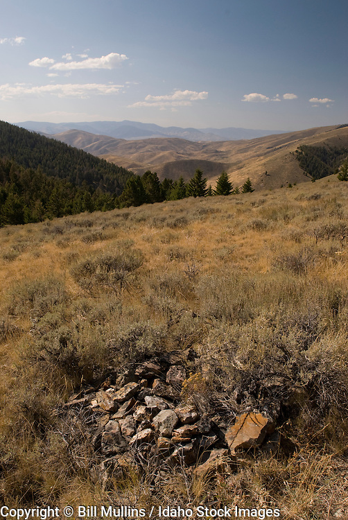 View into Idaho from Lemhi Pass where Lewis and Clark first crossed the continental divide in 1805 from present-day Montana