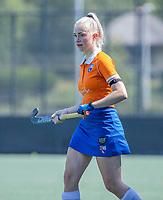 BLOEMENDAAL   - Sophie Goorhuis tijdens   oefenwedstrijd dames Bloemendaal-Victoria, te voorbereiding seizoen 2020-2021.   COPYRIGHT KOEN SUYK