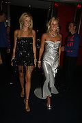 Fiona and Olympia Scarry, Emporio Armani Red One Night Only. Brompton Hall, Earls Court. London. 21 September 2006.  . ONE TIME USE ONLY - DO NOT ARCHIVE  © Copyright Photograph by Dafydd Jones 66 Stockwell Park Rd. London SW9 0DA Tel 020 7733 0108 www.dafjones.com