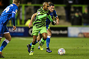 Forest Green Rovers Robert Hall(15), on loan from Oxford United runs forward during the EFL Sky Bet League 2 match between Forest Green Rovers and Carlisle United at the New Lawn, Forest Green, United Kingdom on 28 January 2020.