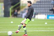 Forest Green Rovers Matty Stevens(9) warming up during the EFL Sky Bet League 2 match between Forest Green Rovers and Plymouth Argyle at the New Lawn, Forest Green, United Kingdom on 16 November 2019.