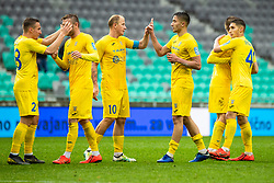 Players of NK Domzale during Football match between NK Olimpija Ljubljana and NK Domzale in 33th Round of Prva liga Telekom Slovenije 2018/19, on May 15th, 2019, in Stadium Stozice, Slovenia. Photo by Grega Valancic / Sportida