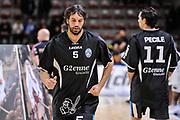 DESCRIZIONE : Campionato 2014/15 Serie A Beko Dinamo Banco di Sardegna Sassari - Upea Capo D'Orlando<br /> GIOCATORE : Gianluca Basile<br /> CATEGORIA : Riscaldamento Before Pregame<br /> SQUADRA : Upea Capo D'Orlando<br /> EVENTO : LegaBasket Serie A Beko 2014/2015<br /> GARA : Dinamo Banco di Sardegna Sassari - Upea Capo D'Orlando<br /> DATA : 22/03/2015<br /> SPORT : Pallacanestro <br /> AUTORE : Agenzia Ciamillo-Castoria/L.Canu<br /> Galleria : LegaBasket Serie A Beko 2014/2015