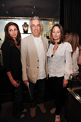 Left to right, Princess Shekyar Jah, RIFAT OZBEK, ISABELLA CAWDOR at a party to launch the Annoushka and Manuela Zervudachi jewellery collaboration held at Annoushka, 41 Cadogan Gardens, London on 28th April 2010.