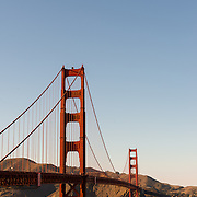 Golden Gate Bridge seen from Fort Point on a clear day.