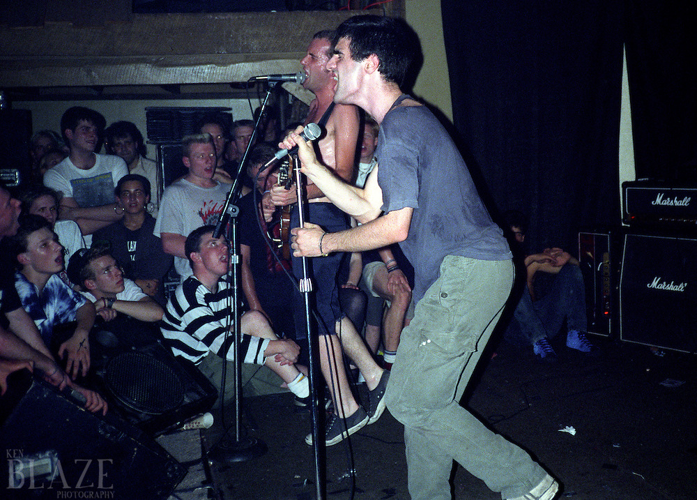 Fugazi performs at the Phantasy Nite Club in Lakewood, OH on June 15, 1989.
