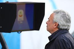 """Foto LaPresse/Filippo Rubin<br /> 16/03/2019 Ferrara (Italia)<br /> Sport Calcio<br /> Spal - Roma - Campionato di calcio Serie A 2018/2019 - Stadio """"Paolo Mazza""""<br /> Nella foto: WALTER MATTIOLI PRESIDENTE SPAL GUARDA IL VAR<br /> <br /> Photo LaPresse/Filippo Rubin<br /> March 16, 2019 Ferrara (Italy)<br /> Sport Soccer<br /> Spal vs Roma - Italian Football Championship League A 2018/2019 - """"Paolo Mazza"""" Stadium <br /> In the pic: WALTER MATTIOLI SPAL'S PRESIDENT WATCHES TO THE VAR"""