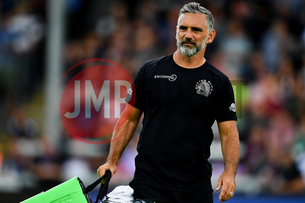 Ricky Pellow prior to kick off - Mandatory by-line: Ryan Hiscott/JMP - 21/09/2019 - RUGBY - Sandy Park - Exeter, England - Exeter Chiefs v Bath Rugby - Premiership Rugby Cup