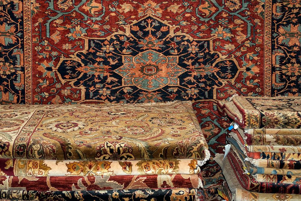 Oriental rug showroom.