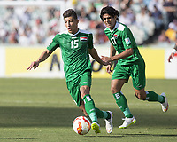 Fotball<br /> Asia Cup / Asiamesterskapet<br /> 23.01.2015<br /> Iran v Irak<br /> Kvartfinale<br /> Foto: imago/Digitalsport<br /> NORWAY ONLY<br /> <br /> Dhurgham Ismail (15) of Iraq brings the ball across field against Iran in the FIFA Asian Football Confederation 2015 Asian Cup quarter-final game played in Canberra Stadium, Canberra, Australia
