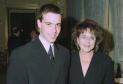 DR MIRIAM STOPPARD former wife of Sir Tom Stoppard and her son MR WILL STOPPARD at a reception in London on 11th September 1997.MBC 9