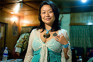 Woman With The Endless Knot<br />