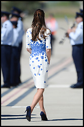 The Duke and Duchess of Cambridge arrive at RAAF Amberley, near Brisbane, Australia, on day 13 of their Royal Tour of New Zealand and Australia, Saturday, 19th April 2014. Picture by Andrew Parsons / i-Images