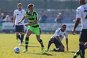 Forest Green Rovers Charlie Cooper(20) runs forward during the Vanarama National League match between Guiseley  and Forest Green Rovers at Nethermoor Park, Guiseley, United Kingdom on 8 April 2017. Photo by Shane Healey.