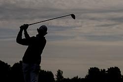 June 3, 2017 - BarsebäCk, Sverige - 170603 Fredrik Nilehn, Sverige i siluett slÃ¥r ut frÃ¥n tredje tee under dag tre av golftävlingen Nordea Masters den 3 juni 2017 i Barsebäck  (Credit Image: © Petter Arvidson/Bildbyran via ZUMA Wire)