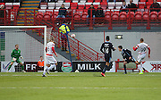 Hamilton's Mikael Antoine-Curier scores a screamer against former club Dundee-  Hamilton Academical v Dundee, SPFL Premiership at New Douglas Park<br /> <br />  - &copy; David Young - www.davidyoungphoto.co.uk - email: davidyoungphoto@gmail.com