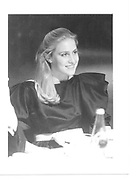 Melissa Rhoden daughter of American Ambassader in London and charles Price 1985 approx© Copyright Photograph by Dafydd Jones 66 Stockwell Park Rd. London SW9 0DA Tel 020 7733 0108 www.dafjones.com