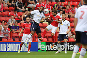 Charlton Athletic midfielder Ricky Holmes (11) battles for possession with Bolton Wanderers midfielder Liam Trotter (17) during the EFL Sky Bet Championship match between Charlton Athletic and Bolton Wanderers at The Valley, London, England on 27 August 2016. Photo by Matthew Redman.