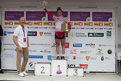 Susanne Andresen (NOR) of Team Norway retained the best Norwegian rider's jersey after the 97,1 km second stage of the 2016 Ladies' Tour of Norway women's road cycling race on August 13, 2016 between Mysen and Sarpsborg, Norway. (Photo by Balint Hamvas/Velofocus)