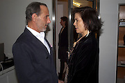 DAVID SALLE; BIANCA JAGGER, David Salle private view at the Maureen Paley Gallery. 21 Herlad St. London. E2. <br /> <br />  , -DO NOT ARCHIVE-&copy; Copyright Photograph by Dafydd Jones. 248 Clapham Rd. London SW9 0PZ. Tel 0207 820 0771. www.dafjones.com.