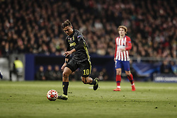 February 20, 2019 - Madrid, Spain - Paulo Dybala (Juventus)  in action during the match   UCL Champions League match between Atletico de Madrid vs Juventus at the Wanda Metropolitano stadium in Madrid, Spain, February 20, 2019  (Credit Image: © Enrique De La Fuente/NurPhoto via ZUMA Press)
