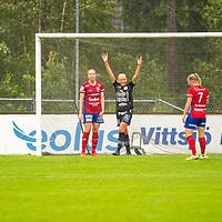 2020-07-29 | Vittsjö, Sverige:  IK Uppsala's (8) Casandra Korhonen jublar under matchen i OBOS Damallsvenskan mellan Vittsjö GIK och IK Uppsala på Vittsjö IP ( Foto av: Henrik Eberlund | Swe Press Photo )<br /> <br /> Nyckelord: Vittsjö, Fotboll, OBOS Damallsvenskan, Vittsjö IP, Vittsjö GIK, IK Uppsala, HEVU200729