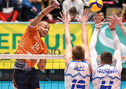 Nimir Abdelaziz of Netherland during friendly volleyball match between National Men teams of Slovenia and Netherlands, on Januar 2nd, 2020, in Dvorana Tabor, Maribor, Slovenia. Photo by Milos Vujinovic / Sportida