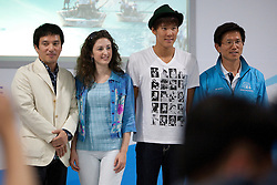 (L-R)  Jae Hyun Cho, Christina Confalonieri, Taewhan Park, and Moonsoo Kim. Korea Match Cup 2009, Gyeonggi-do, Korea. 2 June 2009.